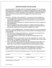 Broker fee disclosure form